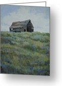 Old Barn Pastels Greeting Cards - Standing Tall Greeting Card by Billie J Colson