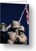 Veterans Day Greeting Cards - Standing Up Greeting Card by JC Findley