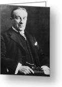 Conservative Greeting Cards - Stanley Baldwin, English Politician Greeting Card by Photo Researchers