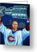 Bleu Greeting Cards - Stanley Cup - Champion Greeting Card by Juergen Weiss
