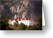 Stanley Greeting Cards - Stanley Hotel Estes Park Greeting Card by Marilyn Hunt