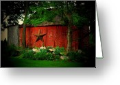 Star Barn Greeting Cards - Star Barn Greeting Card by Michael L Kimble