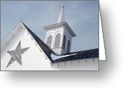 Star Barn Greeting Cards - Star Barn Roof Greeting Card by Craig Leaper