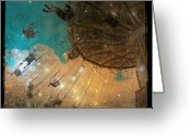 Surrealism Digital Art Greeting Cards - Star Bright Greeting Card by Gothicolors With Crows