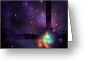 Plasma Greeting Cards - Star Cluster Greeting Card by Corey Ford