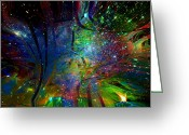 Spritual Greeting Cards - Star Dreamers Greeting Card by Linda Sannuti