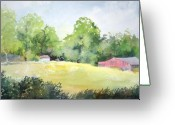 Scottsville Greeting Cards - Star Farm Greeting Card by Raymond Cloutier