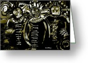 Ancient Aliens Greeting Cards - Star Men 1b  Greeting Card by Doug  Duffey