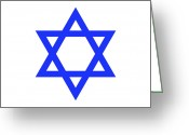 Star Of David Greeting Cards - Star Of David Symbol Greeting Card by Nathan Griffith/Fuse