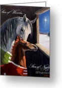 Greeting Cards Greeting Cards - Star of Wonder Greeting Card by Jeanne Newton Schoborg