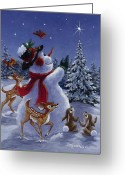 Fawns Greeting Cards - Star of Wonder Greeting Card by Richard De Wolfe