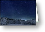 Snowcapped Greeting Cards - Star Panorama Greeting Card by RICOWde