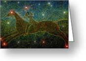 Native American Greeting Cards - Star Rider Greeting Card by David Lee Thompson