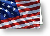 Star-spangled Banner Greeting Cards - Star Spangled Banner - D001883 Greeting Card by Daniel Dempster