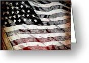 Star Mixed Media Greeting Cards - Star Spangled Banner Greeting Card by Angelina Vick