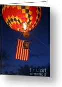 Star-spangled Banner Greeting Cards - Star Spangled Glow Greeting Card by Paul Anderson