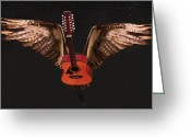 Taylor Guitar Greeting Cards - Star Struck  Greeting Card by Eric Kempson