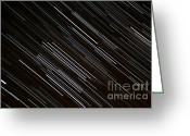 Startrail Greeting Cards - Star Trails at the Equator Greeting Card by Stephen Whisman