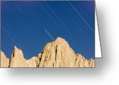 Extended Exposure Greeting Cards - Star Trails Over Mount Whitney Greeting Card by Rich Reid