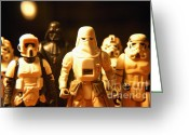 George Lucas Greeting Cards - Star Wars Gang 1 Greeting Card by Micah May