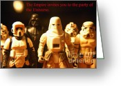George Lucas Greeting Cards - Star Wars Gang 2 Greeting Card by Micah May