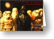 George Lucas Greeting Cards - Star Wars Gang 4 Greeting Card by Micah May