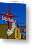 Primary Stars Greeting Cards - Stardust Motel IV Greeting Card by Elizabeth Hoskinson