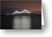 Lit Greeting Cards - Stargazing in Newport Greeting Card by Luke Moore