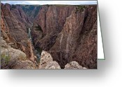 High Resolution Greeting Cards - Staring into the Abyss Greeting Card by Adam Pender
