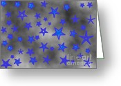Starry Digital Art Greeting Cards - Starry Clouds Forecast Greeting Card by Jeannie Atwater Jordan Allen