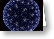 Vector Image Greeting Cards - Starry Night Greeting Card by Danuta Bennett