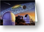 Extrasolar Planet Greeting Cards - Starry Nights at Lick Greeting Card by Lynette Cook