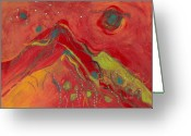 Primary Stars Greeting Cards - Starry Nite Greeting Card by Christine Alfery