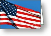 Usa Flag Greeting Cards - Stars and Stripes Greeting Card by Al Powell Photography USA