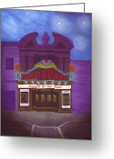 Stage Pastels Greeting Cards - Stars over Broadway Greeting Card by Lisa Anne Riley