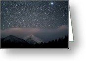 Mountain Range Greeting Cards - Stars Over Rocky Mountain National Park Greeting Card by Pat Gaines