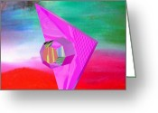 Buy Greeting Cards - Starship  Greeting Card by Buddy Paul