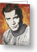 Starship Enterprise  Greeting Cards - Starship Enterprise Captain Kirk Greeting Card by Eric Dee