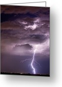 Lightning Weather Stock Images Greeting Cards - Starting High Greeting Card by James Bo Insogna