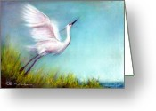 Stone Pastels Greeting Cards - Startled Greeting Card by Peter R Davidson