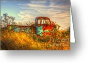 Old Trucks  Greeting Cards - Starving Artist Greeting Card by Robert Pearson