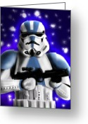 Storm Digital Art Greeting Cards - Starwars. Stormtrooper Greeting Card by Sandra Geis