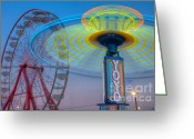 Fairgrounds Greeting Cards - State Fair I Greeting Card by Clarence Holmes