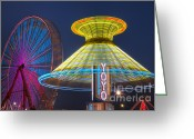 Fairgrounds Greeting Cards - State Fair II Greeting Card by Clarence Holmes