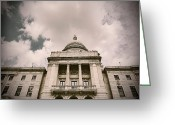 Cityhall Greeting Cards - State House Greeting Card by Lourry Legarde