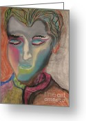Expressive Pastels Greeting Cards - State of Solace  Greeting Card by Peter Piatt