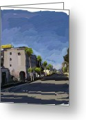 Long Street Greeting Cards - State Street Greeting Card by Russell Pierce