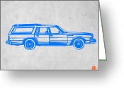 Old Paper Greeting Cards - Station Wagon Greeting Card by Irina  March