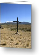 Mountains New Mexico Greeting Cards - Stations of the Cross  Greeting Card by Ann Powell