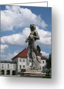 Nymphenburg Greeting Cards - Statue at Nymphenburg Greeting Card by Krista Kulas
